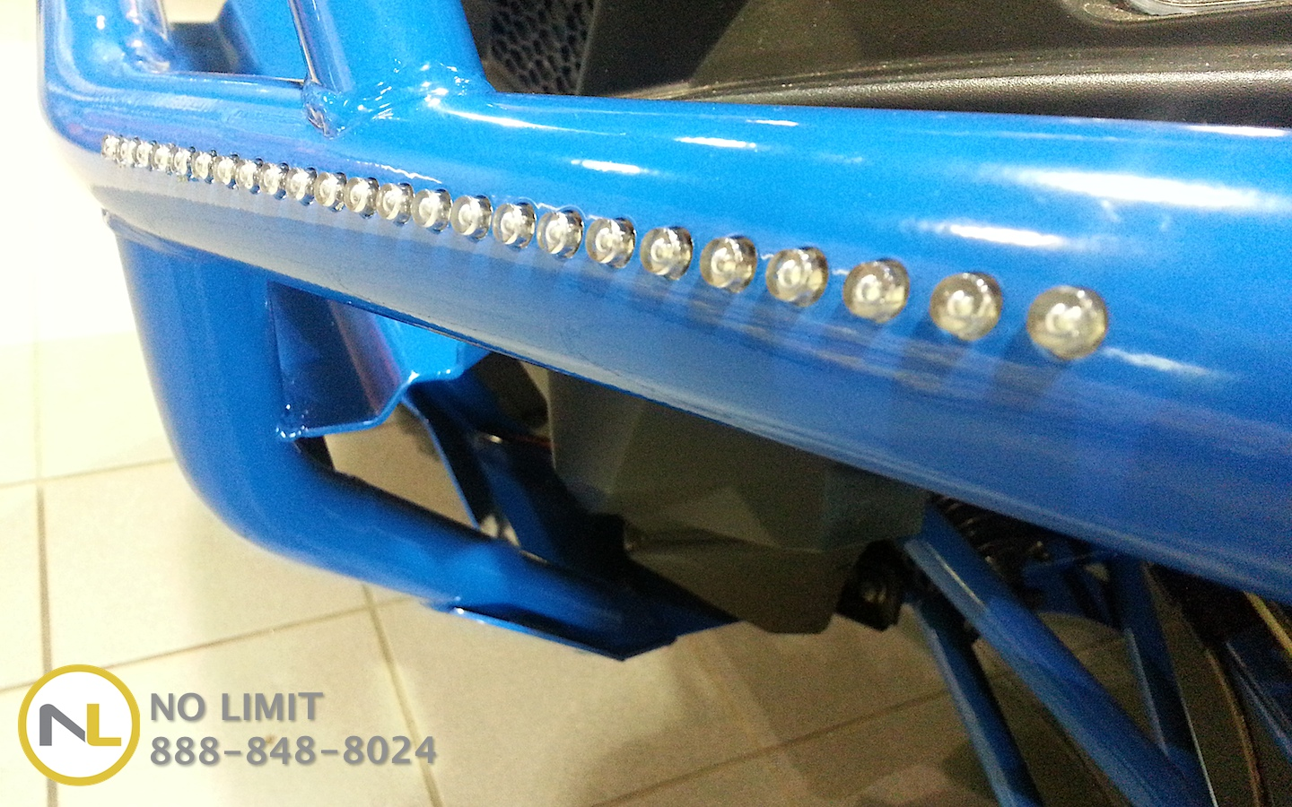 Integrated LED Brush Guards Front or Rear - RZR 570, 800, 900