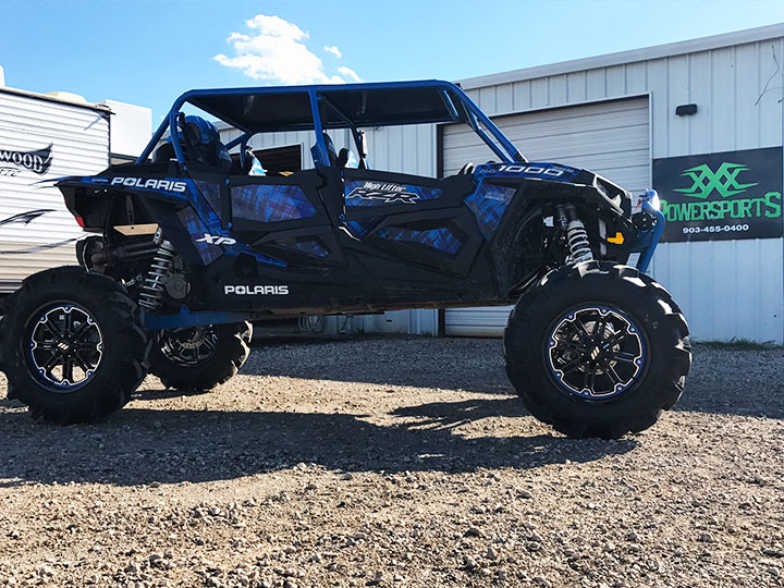 polaris rzr xp 1000 xxx powersports arched a-arms and bumper