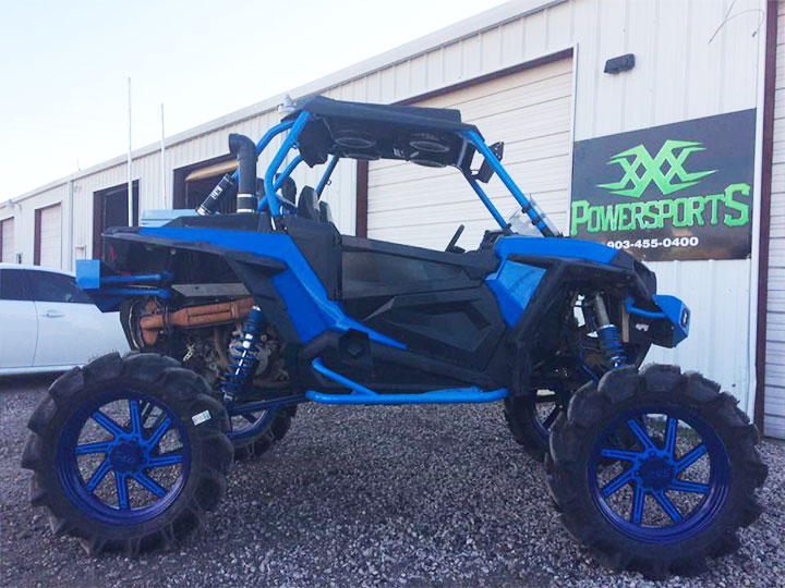 artic cat wildcat with xxx arched a-arms and radius rods by xxx powersports