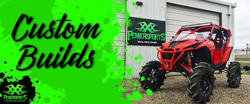 xxx powersports shop custom sxs atv builds